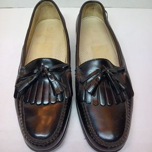 COLE HAAN Leather Slip On Tassle Loafer 12 D